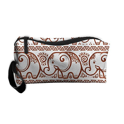 f04b9d07748f Ethnic Graffiti Elephants Pattern Makeup Bag Calico Girl Women ...