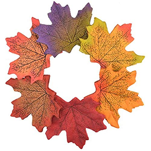 - Artificial Maple Leaves Approximately Assorted Mixed Fall Rich Artificial Flower Fall Colored Silk Maple Leaves for Weddings, Autumn Party,Events and Decorating Hardwork (250pcs, 5 colors)