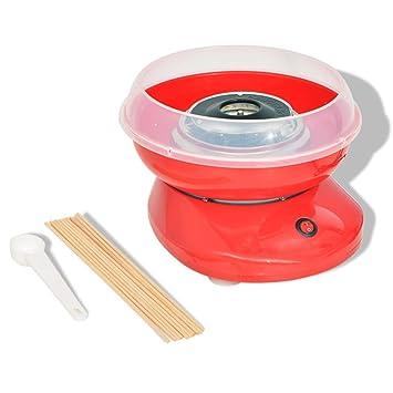 vidaXL Máquina de Algodón de Azúcar Modelo con Ruedas Potencia 480 W Color Roja: Amazon.es: Hogar