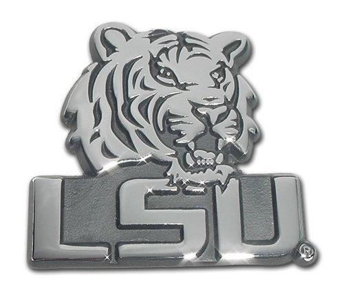 LSU Tigers Premier Chrome Metal Tiger & LSU Auto Emblem
