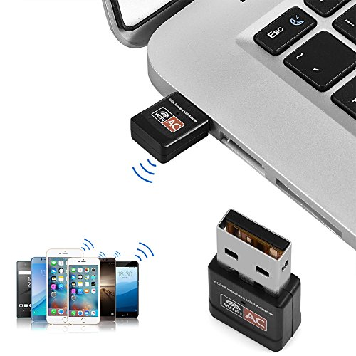 Richer-R Wifi Adapter, 600Mbps USB Wireless Network Adapter 802.11AC Dual Band 2.4G/5G WiFi Dongle for Windows XP/Vista/7/8/10, Linux 2.6X; Mac OS X systems and - Powerline 802.11g Wireless