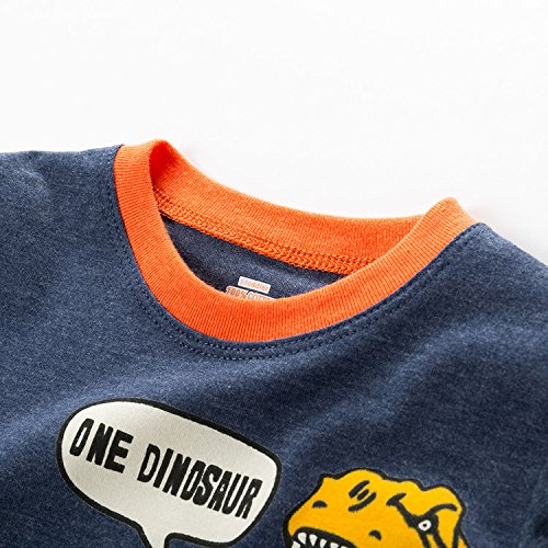 BGKAKA-Toddler-Boys-Pajamas-Bulldozer-Car-Shark-Kids-Summer-PJS-100-Cotton