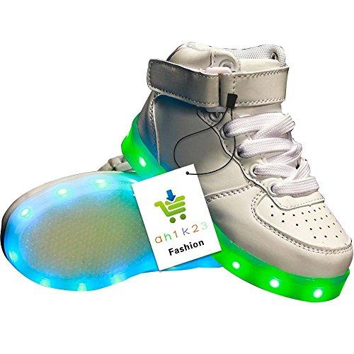 Toddler Little/Big Kid Boy Girl USB Flashing LED Light Shoes Sneaker (Led Toddler Costume)
