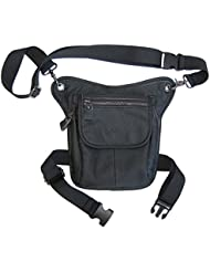 e-Holster Drop Leg Bag Genuine Leather with iPad Mini Pouch and Shoulder Strap