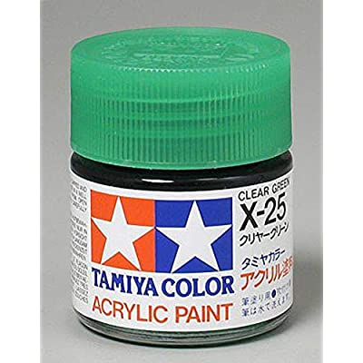 Tamiya Acrylic X25 Gloss,Clear Green: Toys & Games