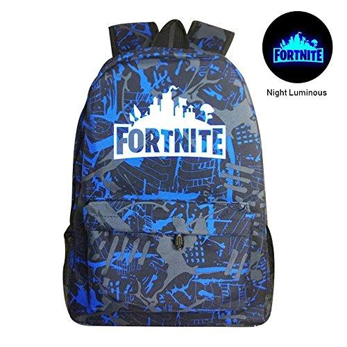 f9e9ff58dd09 Kobwa Fortnite Luminous Backpack Battle Royale School Bag Notebook Rucksack  Laptop Fortnite Galaxy Backpack for Teenagers Boys and Girls