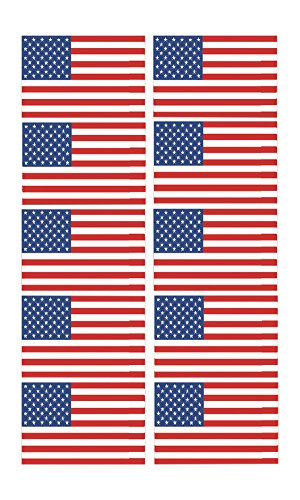 Best Selling Funny Work Hard Hat Helmet Stickers Decals USA Flag Toolbox Construction Worker Mechanic Value Pack (USA Flag)