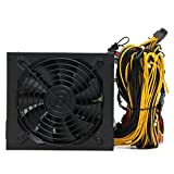 Sikye Steel Shell 2000W ATX Gold Mining Power Supply SATA IDE 8 GPU for ETH BTC Ethereum (160-240V)