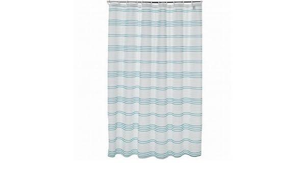 Curtains Ideas apt 9 shower curtain : Amazon.com: Apt 9 Blue Mosaic Stripe Fabric Shower Curtain Pretty ...