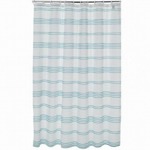 Apt 9 Blue Mosaic Stripe Fabric Shower Curtain Pretty Striped - Stripe Blue Mosaic