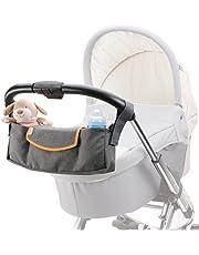 DIAGO Deluxe barnvagn organisatör grå/orange