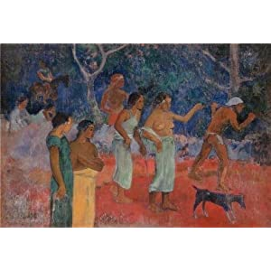 The Perfect Effect Canvas Of Oil Painting 'Gauguin, Paul - Scene From Tahitian Life' ,size: 8x12 Inch / 20x30 Cm ,this Best Price Art Decorative Canvas Prints Is Fit For Wall Art Artwork And Home Gallery Art And Gifts
