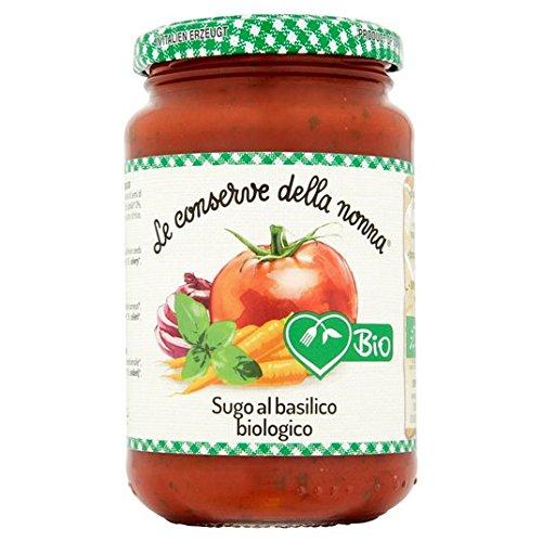 Le Conserve Della Nonna Gluten de tomate y albahaca Pasta 350g Salsa