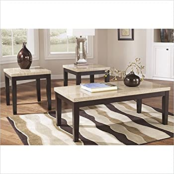 Ashley Furniture Signature Design   Wilder Two Toned Occasional Table Set    Contains Cocktail Table