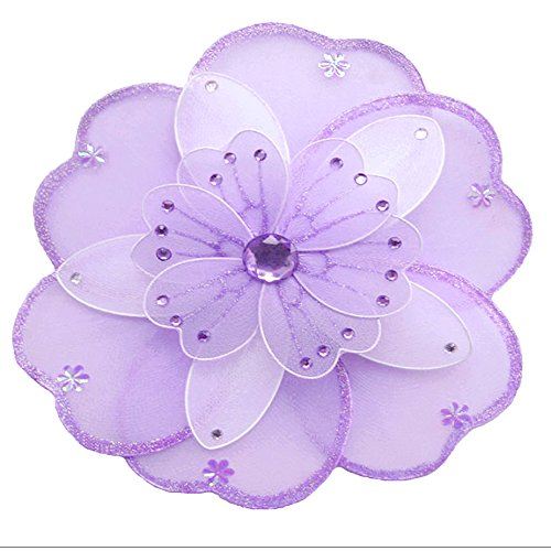 Hanging Flower Medium 10 Purple Lavender White Triple Layered Mesh Nylon Flowers Decorations Decorate Baby Nursery Bedroom Girls Room Ceiling Wall Decor Wedding Birthday Party Shower Home Childs Art
