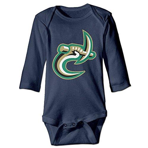 ElishaJ University Of Miami Babys Long Sleeve Bodysuit Baby Onesie Navy Size 6 - Bans Burberry Ray