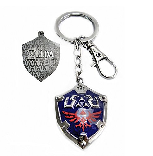 Key Metallic Ring (Legend of Zelda New Style Metallic Alloy Keychain With Key Hook)