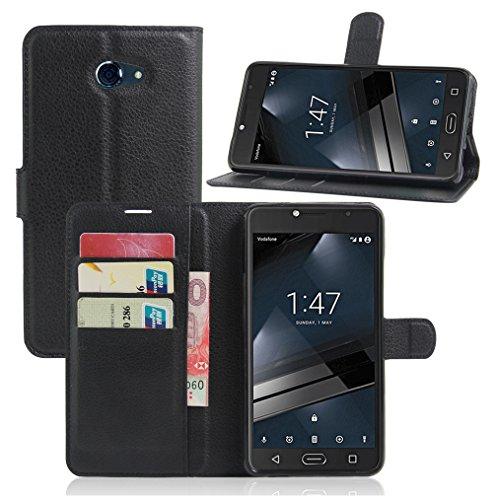 Funda Vodafone smart uitra 7,Manyip Caja del teléfono del cuero,Protector de Pantalla de Slim Case Estilo Billetera con Ranuras para Tarjetas, Soporte Plegable, Cierre Magnético A