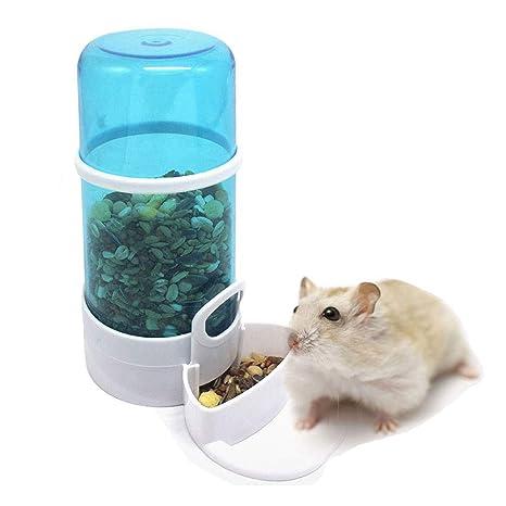 Hianiquaime® Botella de Agua para Mascotas Recipiente Dispensador de Alimentos Automático para Hámster Contenedor de