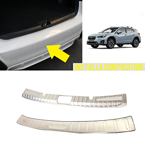 HIGH FLYING 2PCS Steel Rear Boot Bumper Guard Sill Plate Protector For Subaru Impreza XV 5-door hatchback