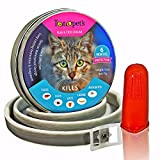 Pet Flea and Tick Collar for Cats and Kittens - 6 Months Protection, Stops Bites, Itching, Kill Insects, Larvae, Eggs and More - Waterproof, and Fully Adjustable by Totopet's™