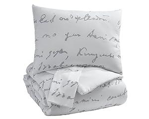 Signature Design by Ashley Adrianna King Comforter, White/Gray