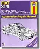 H34025 Haynes Fiat X1 9 1974-1980 Auto Repair Manual