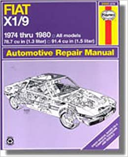 Book H34025 Haynes Fiat X1 9 1974-1980 Auto Repair Manual