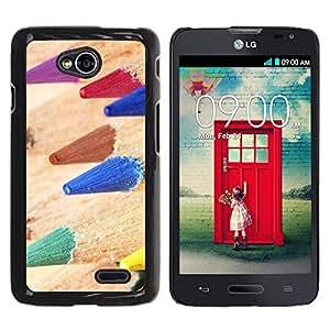 Print Motif Coque de protection Case Cover // V00001850 macro lápices de color // LG Optimus L70 MS323