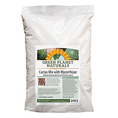 Quality Ingredients - Cactus Mix with Mycorrhizae - 16 Dry Quarts Soil!