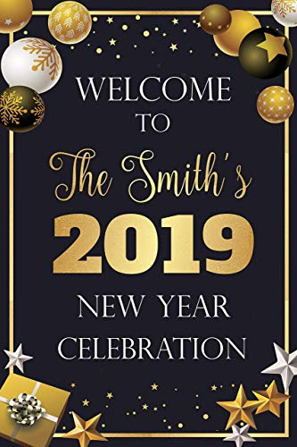 Amazoncom New Year Welcome Party Sign Ornaments Gifts New Year