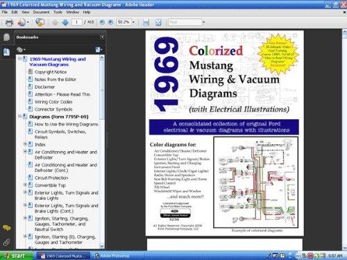 1969 Colorized Mustang Wiring Vacuum Diagrams David E Leblanc David E Leblanc 9781603710282 Amazon Com Books