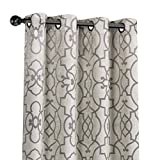 GoodGram 2 Pack Palladian Reversible Lattice Heavy Duty Thermal Blackout Curtain Panels