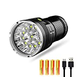 SODIAL Led Flashlight 10000 Lumens,12xCREE XM-L T6 LED 4 Modes Super Bright Tactical