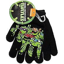Teenage Mutant Ninja Turtles Black Knit Boys Winter Gloves