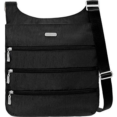 Baggallini Big Zipper Travel Crossbody Bag, Black c