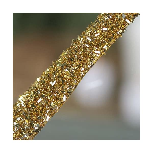 Factory-Direct-Craft-Group-of-6-Gold-Glitter-and-Tinsel-Artificial-Fern-Frond-Picks-for-Embellishing-Florals-Centerpieces-and-More