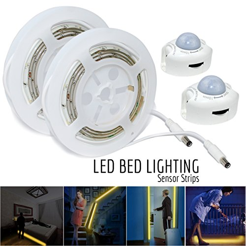 ESVNE LED Digital Bed-lighting Motion Sensor Light Strips...