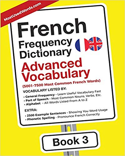 Amazon Com French Frequency Dictionary Advanced Vocabulary 5001
