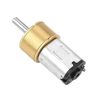 Motore a ingranaggi in cc, riduttore antipolvere in metallo 6V Mini motore di bobina in filo di rame puro per serrature elettroniche, auto giocattolo fai da te, piccoli robot, ecc. (6V 60RPM)