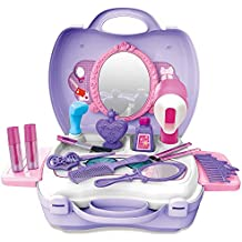 Gizmovine Pretend Toys, Girl Make Up Toys with Carry Case Birthday Gift Christmas Toy Gifts for Girls Kits
