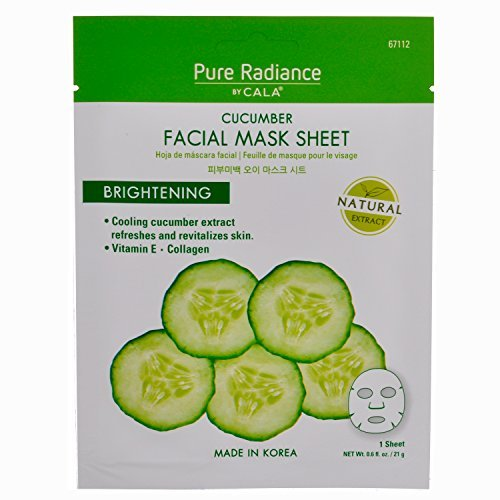 (Cala Pure Radiance Cucumber Brightening Facial Mask Sheets (5 Sheets))