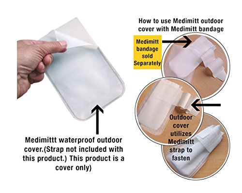 PawFlex Protective Medimitt Outdoor Cover - Paw Bandages - for Dogs Cats and Other Pets First Aid Wound Care Non-Adhesive Disposable Washable Reusable and Water Resistant Bulk Value 20pack (X-Large)