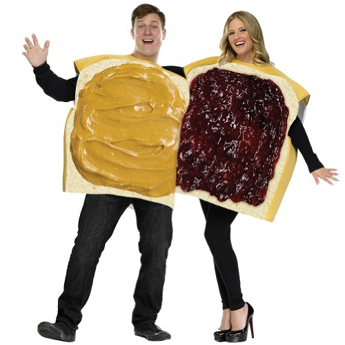Peanut Butter and Jelly Costume Set - Standard - Chest Size 33-45 (Costume Duos)