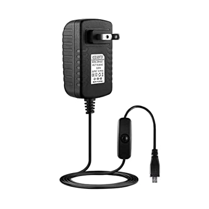 Amazon com: S&MO 5V 3A Power Supply Adapter+On/Off Switch for