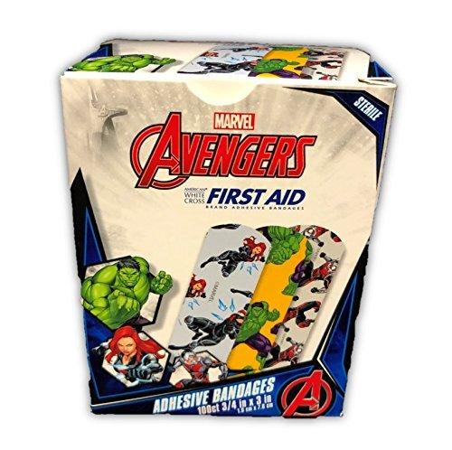 Character Bandages - Marvel Avengers Assortment Adhesive Bandages 100-ct 3/4