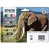 Epson 24XL Serie Elefante Cartuccia Originale, Multipack, XL, 6 Colori