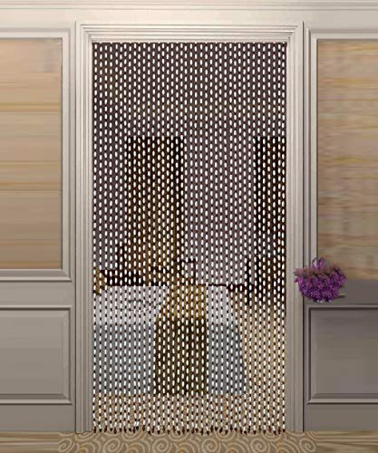 GuoWei Beaded Curtains Room Divider Blind for Doorway Bedroom Wooden Hanging Strings Panel Screen Decoration Customizable (Color : A, Size : 40 strands-90x180cm) ()