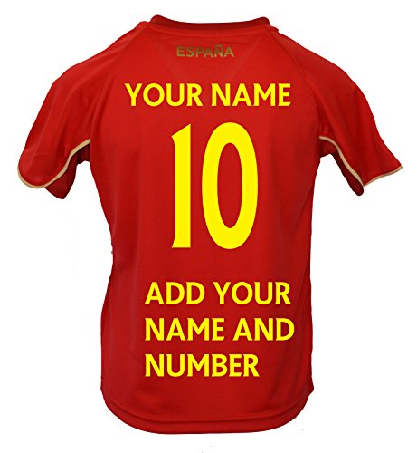 d0190182727 Spain Soccer Sport Jersey Flag Adult and YouthTraining Custom Name and  Number España (YL