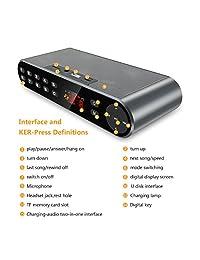 antimi estéreo Altavoz Bluetooth inalámbrico portátil Dual Controladores con sonido HD, micrófono integrado, Audio de alta definición y Enhanced Bass, Negro
